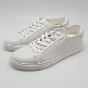 NEW Kenneth Cole Kam Lace-Up Sneakers ALL WHITE 11